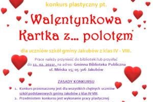 Plakat - kartka walentynkowa